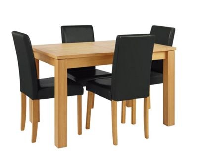 Buy Collection Beckett Table amp4 Midback Chairs Oak Veneer  : 5985742RSETTMBampwid620amphei620 from www.argos.co.uk size 620 x 620 jpeg 22kB