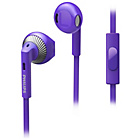 more details on Philips SHE3205 In-Ear Headphones with Mic - Purple.
