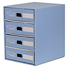 more details on Fellowes Bankers Box Style 4 Drawer Storage Unit - Blue.