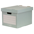 more details on Fellowes Bankers Box Style Home 4 Pack Storage Box - Green.