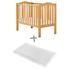 more details on Baby Elegance Sarah Cot and Mattress - Pine.