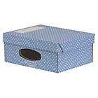 more details on Fellowes Bankers Box Style 4 Pack A4 Window Box - Blue.