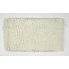 more details on HOME Faux Flokati Rug - 90x150cm - Natural.