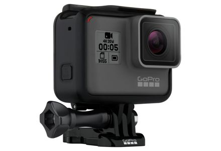 Cut out image of the GoPro HERO5 Black 4K LCD Action Cam.