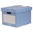 more details on Fellowes Bankers Box Style 4 Pack Home Storage Box - Green.