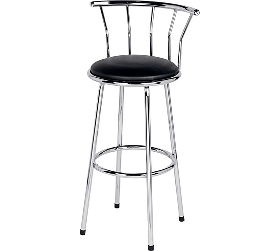 Buy Home Black Leather Effect Bar Stool At Argos Co Uk