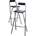 more details on Argos Value Range Theo Pair of Folding Bar Stools.