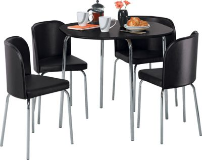 Buy Hygena Amparo Dining Table and 4 Chairs Black at  : 6001443RSETTMBampwid620amphei620 from www.argos.co.uk size 620 x 620 jpeg 30kB