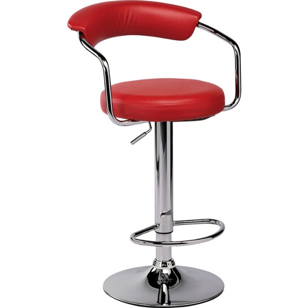 Buy Collection Executive Red Gas Lift Bar Stool At Argos