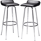 more details on HOME Pair of Black and Chrome Swivel Head Bar Stools.