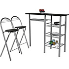 more details on HOME Amelia Breakfast Table and 2 Chairs - Black.