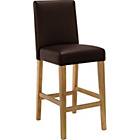 more details on Winslow Chocolate Oak Stain Leather Effect Bar Stool.