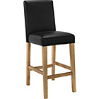 more details on Winslow Black Oak Stain Leather Effect Bar Stool.