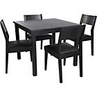 more details on Hygena Black Square Dining Table and 4 Chairs.