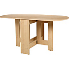more details on HOME Gateleg Light Oak Effect Extendable Dining Table.
