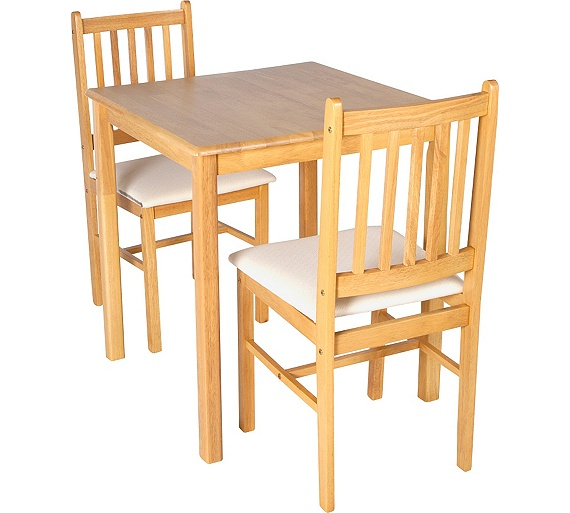 Buy Dining Table And Chairs Online: Buy HOME Kendall Square Dining Table & 2 Chairs-Solid Wood