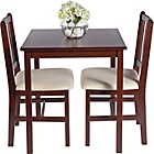more details on HOME Kendall Dining Table and 2 Chairs - Walnut/Cream.