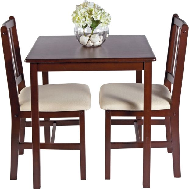 buy home kendall solid walnut dining table 2 chairs. Black Bedroom Furniture Sets. Home Design Ideas