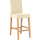 more details on Winslow Cream Oak Stain Leather Effect Bar Stool.