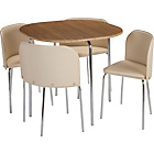 more details on Hygena Amparo Dining Table and 4 Chairs - Oak Effect/Cream.