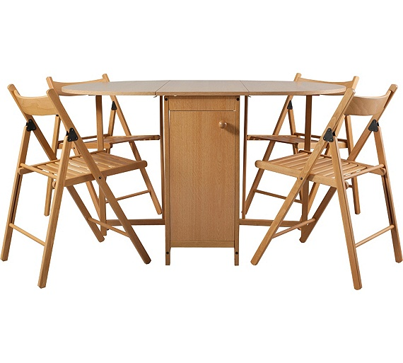 Buy HOME Butterfly Oval Dining Table And 4 Chairs Oak