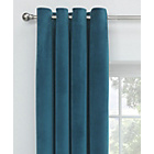 Collection Velvet Lined Eyelet Curtains -168x229cm- Peacock