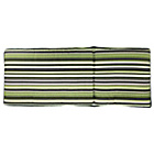 more details on HOME Multi Position Sun Lounger Cushion - Green Stripe.