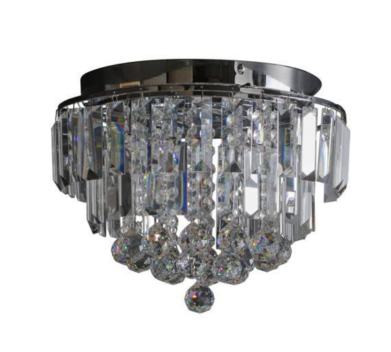 Crystal Wall Lights Argos : Buy Heart of House Opulence Crystal Glass Flush Ceiling Light at Argos.co.uk - Your Online Shop ...