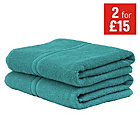more details on ColourMatch Bath Towel - Teal.