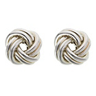 more details on Italian Sterling Silver Double Love Knot Studs.