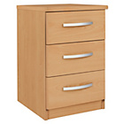 Collection New Hallingford 3 Drawer Bedside Chest - Beech