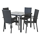 more details on HOME Lima Rattan 4 Set with Cushions - Black.