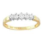 more details on 9ct Gold 0.25ct tw Diamond 5 Stone Eternity Ring.