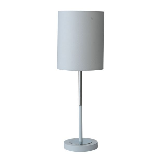 Buy hygena chrome table lamp white at your for Table lamps argos