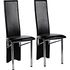 more details on Hygena Savannah Black Pair of Dining Chairs.