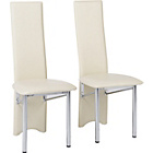 more details on Hygena Savannah Cream Pair of Dining Chairs.