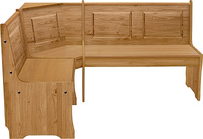 Buy HOME Puerto Rico Solid Wood Nook Table 3 Corner Bench Set at