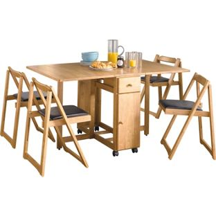 A RGOS Emperor Oak Stain Dining Table And 4 Folding Chairs 603 1561 EBay