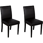 more details on Aston Pair of Leather Effect Chairs - Black.