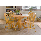 more details on Kentucky Natural Fixed Top Dining Table and 4 Chairs.