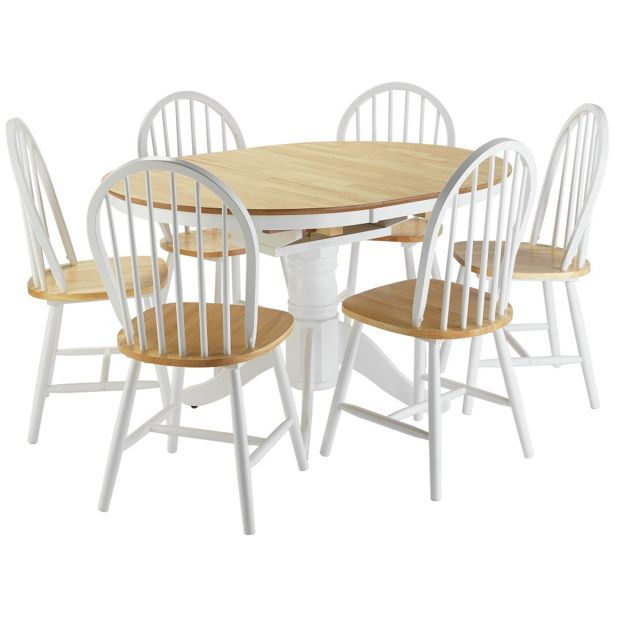 buy collection kentucky ext dining table and 6 chairs two. Black Bedroom Furniture Sets. Home Design Ideas