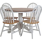 more details on Kentucky Two Tone Fixed Top Dining Table and 4 Chairs.