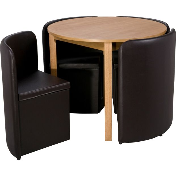 Argos Hygena Dining Table And Chairs: Buy Hygena Wooden Space Saver Table And 4 Chairs