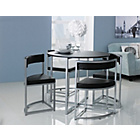 more details on Hygena Milan Space Saver Table and 4 Chairs - Black.
