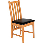 more details on Ascot Pair of Black Oak Effect Dining Chairs.