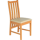 more details on Ascot Pair of Cream Oak Effect Dining Chairs.
