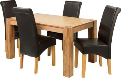 Buy Collection Marston Dining Table and 4 Chairs Oak  : 6036793RSETTMBampwid620amphei620 from www.argos.co.uk size 620 x 620 jpeg 28kB