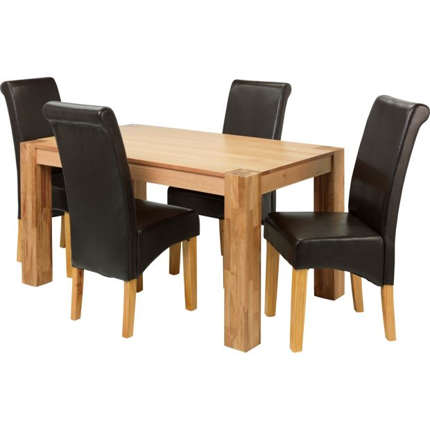 Argos Uk Dining Table And Chairs: Buy Collection Marston Dining Table And 4 Chairs -Oak