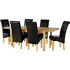 more details on Tring Oak Dining Table and 6 Chocolate Chairs.