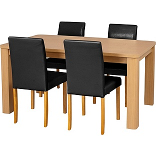 Swanley Oak Dining Table And Chairs